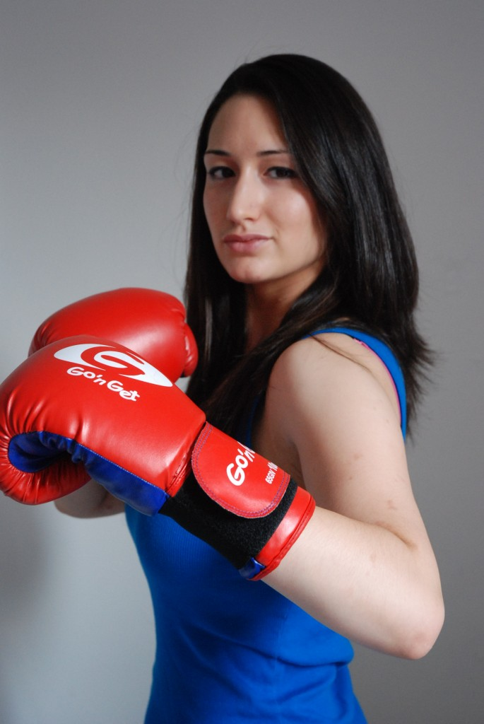Womens boxing background